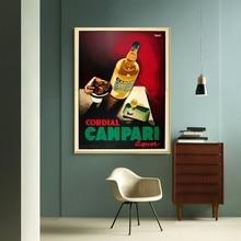 Cartel Campari GCordial póster vintage Original lienzo impresión decoración del hogar sin marco