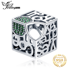 JewelryPalace Initial 925 Sterling Silver Beads Charms Original Fit Bracelet original Jewelry for Women
