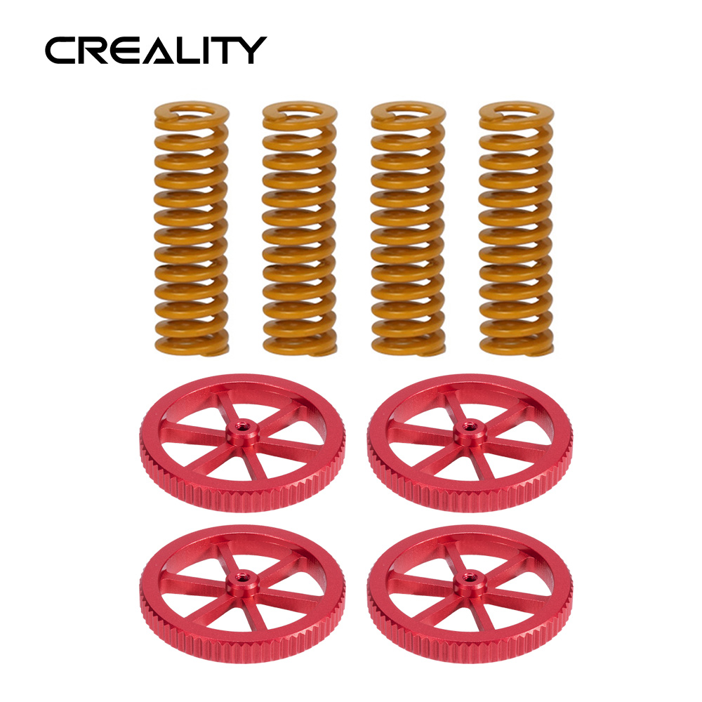 Creality 3D Printer Parts 4PCS Hotbed Springs Add 4PCS Creality Hand Twist Leveling Nut For Ender-3 Ender-5 CR-10 Series