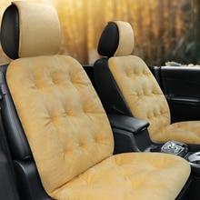 Car-Seat-Cushion Comfortable Winter 1 Kia Rio E1x36 Artificial-Fur Not-Moves Slip-Resistant