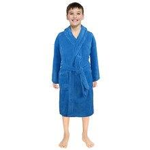 Банный халат; одежда для сна для малышей; однотонные фланелевые банные халаты для маленьких мальчиков и девочек; ночная рубашка; Пижама; одежда для сна; одежда для детей;
