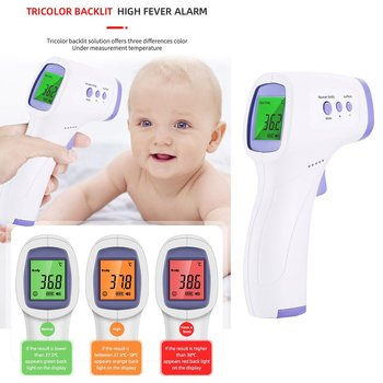 Lcd electronic medical baby forehead thermometer infrared non contact digital body temperature for kids infant adult fever недорого