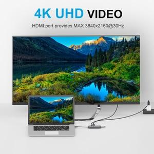 Image 3 - QGeeM USB C Hub for Macbook Pro متعدد USB 3.1 Hub Type C 3.0 Hub HDMI PD محول for iPad Pro OTG الفاصل شحن USB C Dock