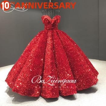 BAZIIINGAAA Belgium Colorful Sequins Flash Wedding Dressss Word Gradient Gradient Sequins Burst Gold Bride Wedding