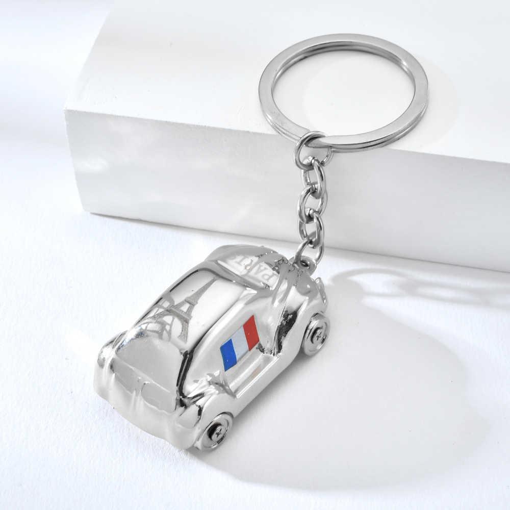 Vicney moda takı PARIS anahtarlık eyfel kulesi otobüs anahtarlık fransız bayrağı anahtarlık kadın erkek araba çanta anahtarlık hediyeler