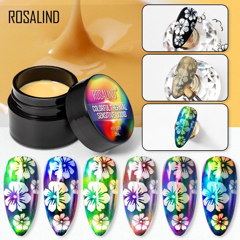 ROSALIND цветные термальные чувствительные Лаки 2 мл Гель Дизайн ногтей сухой воздух цвет Chnaging Лак Живопись гель Полупостоянный|Гель для ногтей|   | АлиЭкспресс