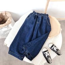 2020 Girl Autumn Wide Leg Jeans Pant Baby Kids Children Casual Denim Trousers