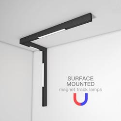 Suspensão de iluminação teto ímã trilhos superfície montagens na parede para sala cozinha ponto nevoeiro luminárias led pista correndo lâmpada