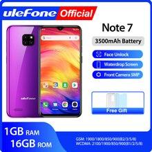 Ulefone หมายเหตุ 7 สมาร์ทโฟน 3500mAh 19:9 Quad Core 6.1 นิ้ว Waterdrop หน้าจอ 16GB ROM โทรศัพท์มือถือ WCDMA โทรศัพท์มือถือ  android9.0