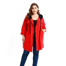 Women Fashion Long Sleeve Hooded Trench Coat Feminine Autumn