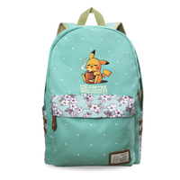2019 Pokemon Fashion Women Canvas Backpacks School Bags for Teenagers Girl Daily Funny Pikachu Print Laptop Backpacks Mochila