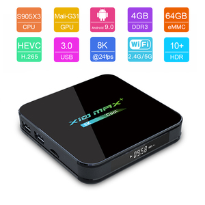 Image 4 - Newest X10 MAX Plus TV Box Android 9.0 4GB 64GB Amlogic S905X3 TV Box Smart Media Player Dual WiFi Bluetooth 8K TV Set top box