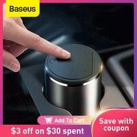 Baseus-bote de basura de aleación para coche, organizador automático, bolsa de almacenamiento, cubo de basura para coche, Cenicero, caja de polvo, soporte, accesorios para coche