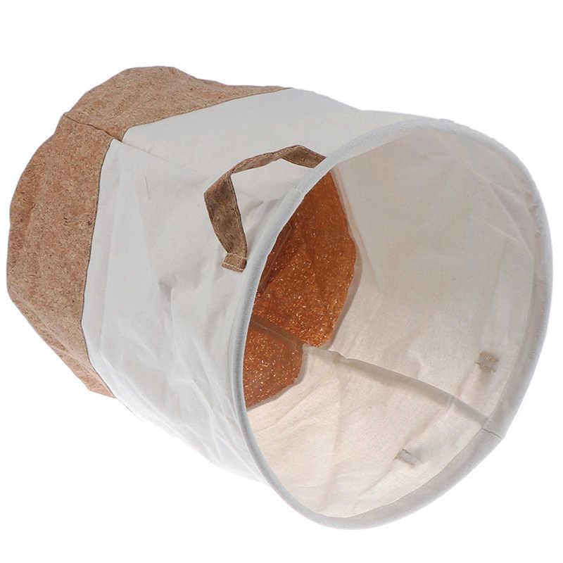 1pc Wäsche Korb Kinder Spielzeug Wasserdichte Baumwolle Leinen Kleiden Organizer Korb Organizer Lagerung Korb Große Hause Kleinigkeiten Lagerung
