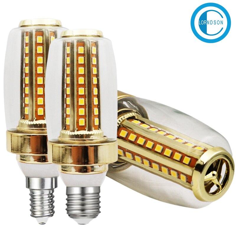 CLORNDSON LED Bulb E27/E14 Light 9 Watts 90-260V 64 beads SMD 2835 LEDs Corn Spotlight Chandelier Crystal Light Lamps