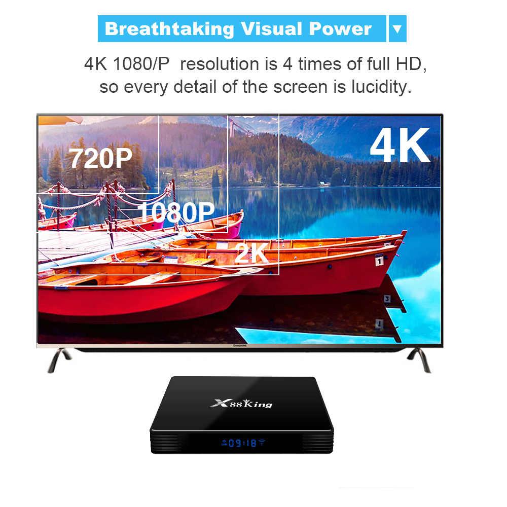 X88 King Smart Android 9.0 TV Box Amlogic S922X hexa-core Mali-G52 MP6 TV Box BT5.0 4GB + 128GB 4K lecteur multimédia 2.4G/5G double WiFi