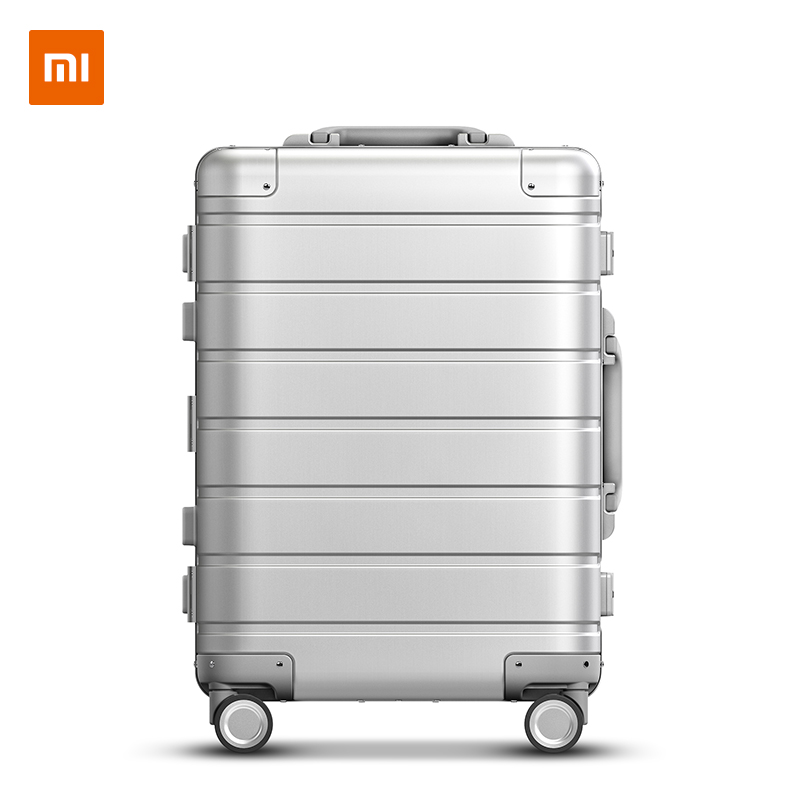 Xiaomi Metal Carry on Luggage 20inch Mi Suitcases Travel Business Trip Fashion Casual Suitcase Silver|Carry-Ons| - AliExpress
