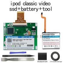 Nowy dysk SSD 32G 64G 128G 256G 512G 1TB dla Ipod classic 7Gen ipoda wideo 5th zastąpić MK3008GAH MK8010GAH MK1634GAL ipoda HDD darmowe narzędzie tanie tanio NINJACASE Pata 100M S Szczupła Laptop IPOD SSD Wewnętrzny
