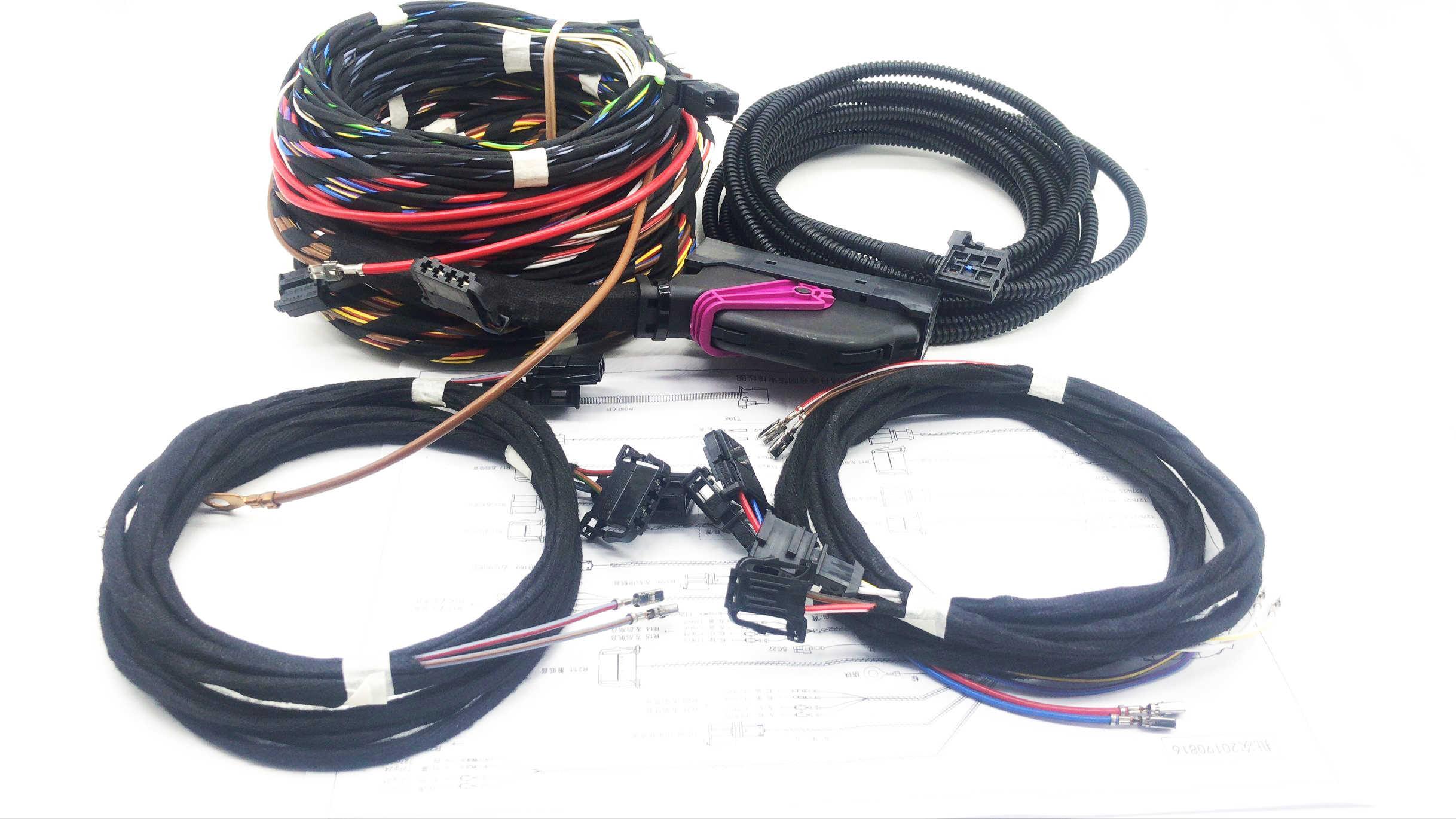 インストール更新 Dynaudio システム音響ワイヤーハーネスケーブル Vw Teramont