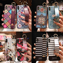 Very beautiful 3D Emboss Holder Soft Case For iphone 7 8 plus 6 6s plus phone Case For iphone X Xs max XR 11 pro max cover cases(China)