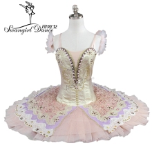 free shipping gold ballet tutu for girls professional classical BT9110