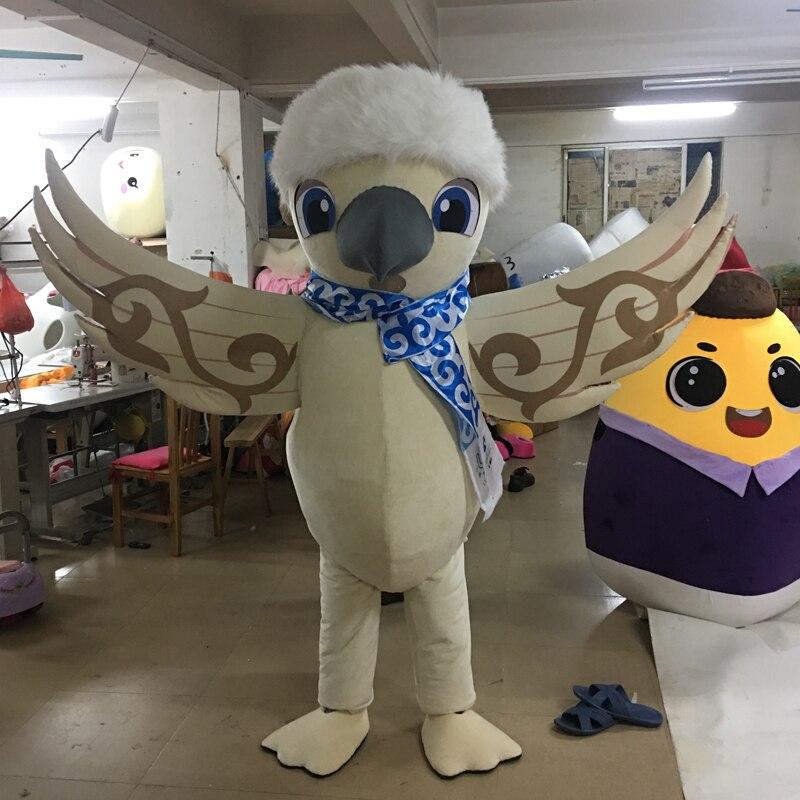 2019 Costume professionnel de Mascotte de faucon en peluche de luxe sur mesure taille adulte Mascotte d'aigle Mascotte fête de carnaval Cosply Costum