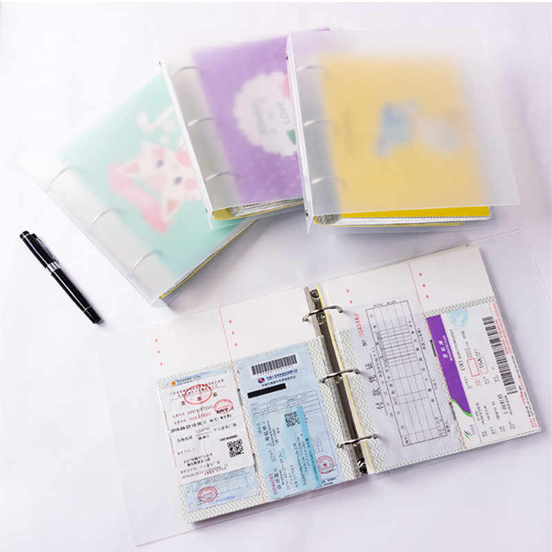 40sheets DIY Album Concert Tickets Paper Money Collection Book PU Leather Paper Interleaf  Movie Tickets Collection Album