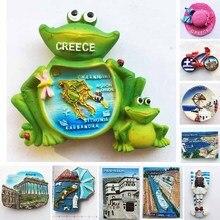 Greece Tourism Fridge Magnet Frog Stickers Athens Santorini Pilio Hellas Leptokaria Travel Refrigerator Stickers Home Decoration