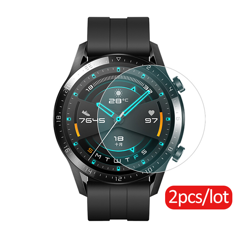 2pcs Protective Glass For Huawei Watch GT 2 46mm Tempered Glass For Huawei GT2 Band Smartwatch Accessories Screen Protector Film
