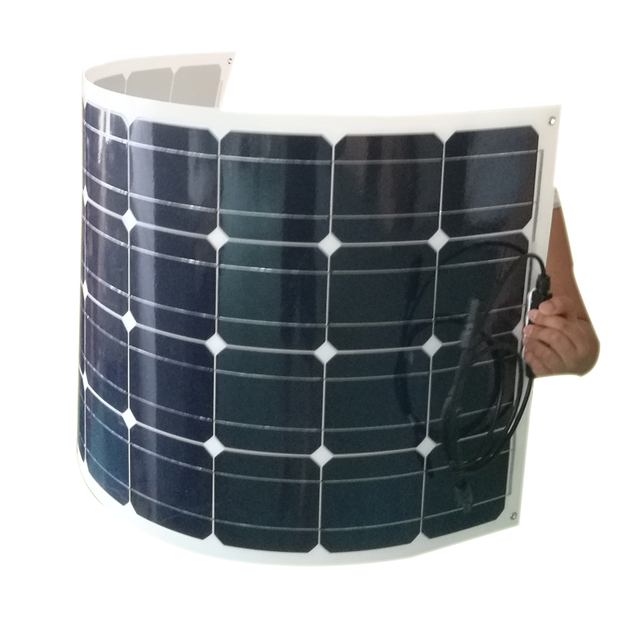 100w thin Film Semi Flexible Solar Panel mono solar cell