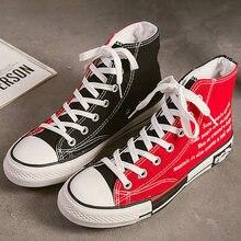Alta superior sapatos femininos mais tamanho 270 mm designer tênis 2020 moda alta superior tênis outono sapatos de lona feminina