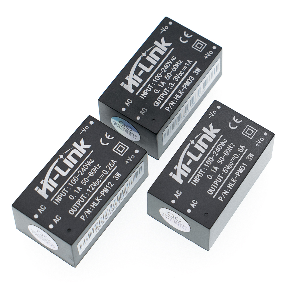 New HLK-PM01 HLK-PM03 HLK-PM12 <font><b>AC</b></font>-<font><b>DC</b></font> 220V to 5V/<font><b>3.3V</b></font>/12V mini <font><b>power</b></font> <font><b>supply</b></font> <font><b>module</b></font>,intelligent household switch <font><b>power</b></font> <font><b>module</b></font> image