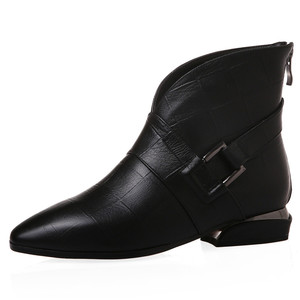 Image 2 - FEDONAS Female Elegant Short Boots Quality Genuine Leather Women Ankle Boots Party Dancing Shoes Woman Big Size Chelsea Boots