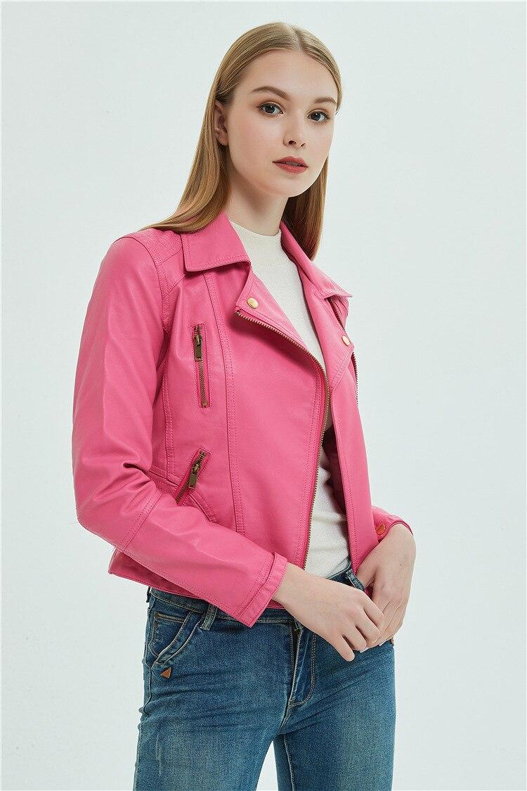 rosa jaqueta de couro macio do plutônio