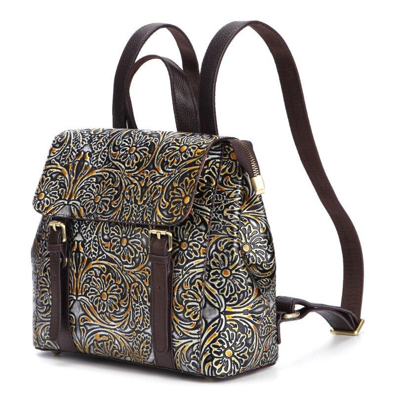Купить 1 шт кожаный повседневный рюкзак с цветочным принтом