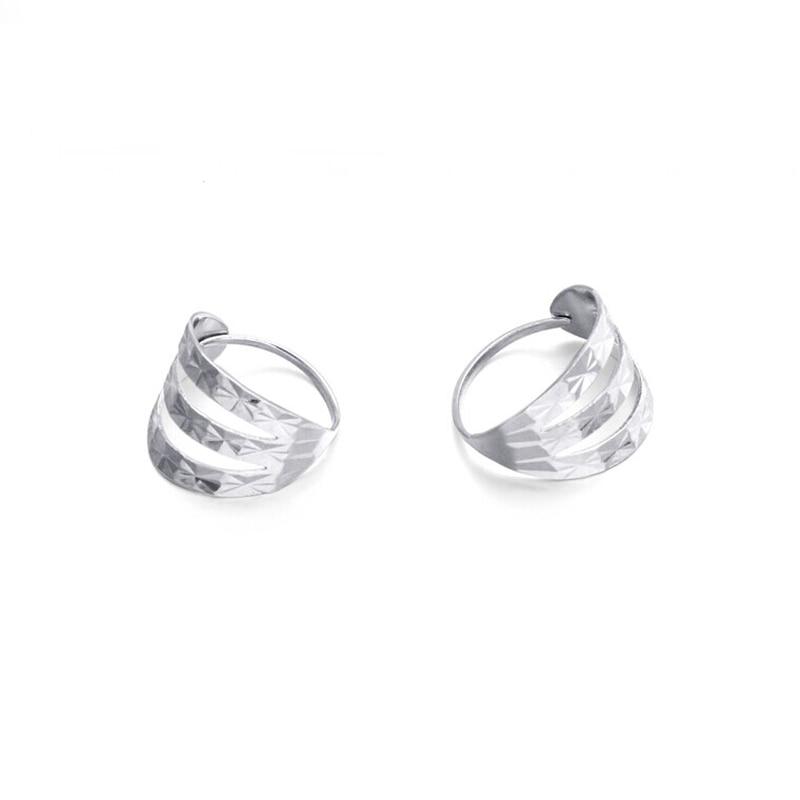 Fastueux platine blanc réel or PT950 diamant sculpter percé boucles d'oreilles pour les femmes mariée Fine mariage Propose des bijoux de bureau