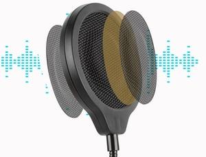Image 3 - רעש מגן רוח מסכת התפרצות רשת מתכת שמשות פופ מסנן עם הר קליפ עבור כחול Yeti/Yeti פרו מיקרופון מיקרופון