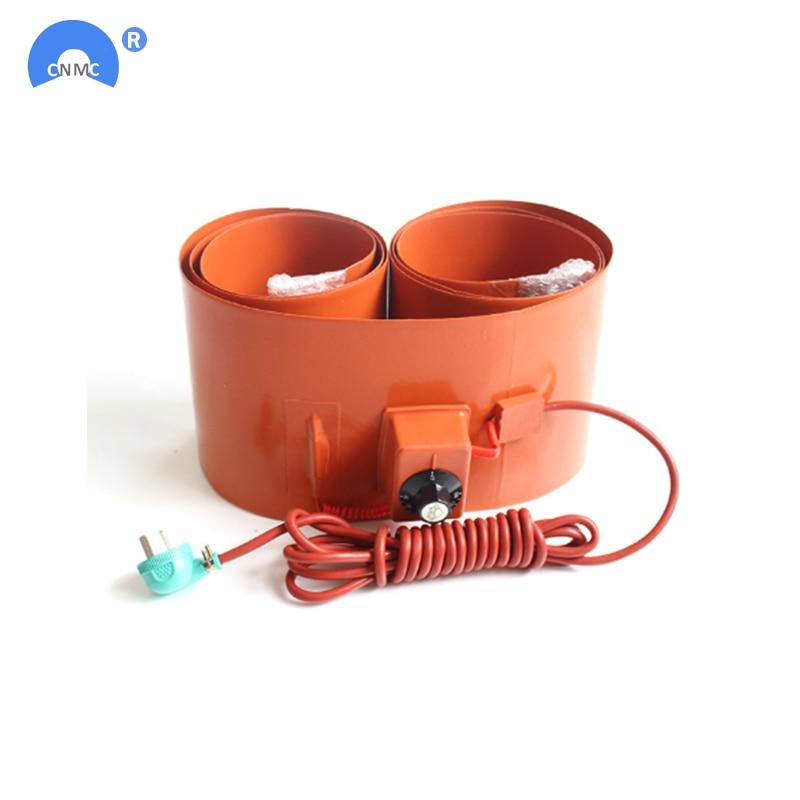 250x1740mm 2000W/3000w 110V/220V Silicone Rubber 200L Drum Heating Belt