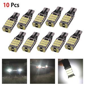 10Pcs T15 W16W LED Bulbs 45-SMD Canbus OBC Error Free LED Backup Light 921 912 W5W LED Bulbs Car Reverse Lamp White 12-24V