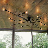 Múltiplas haste de metal sputnik lustre ferro do vintage lâmpada teto edison lamparas casa luminária cozinha ilha sala jantar