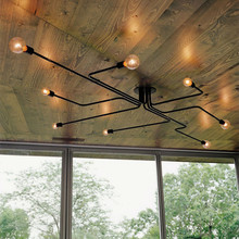 Múltiples varillas de metal sputnik lámpara Vintage de hierro lámpara Edison para techo lámparas accesorio de iluminación para el hogar cocina isla comedor
