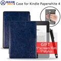 Модный чехол для Amazon Kindle Paperwhite 4 Чехол 6 ''Ereader PQ94WIF чехол для 2018 Paperwhite Водонепроницаемый 10 с держателем для рук