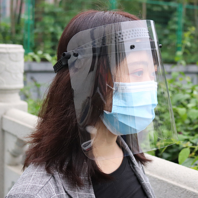Splash-proof Dust-proof Mask Transparent Anti-Saliva Rotatable Protect Respiratory tract Face Mask Adjustable for Kids Adult 1