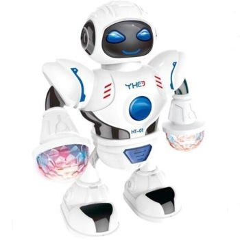 Nuevo Espacio Robot simulación bailando a colores de luz niños educación juego de Puzzle regalo bebé acompañar presente 1 unids/pack