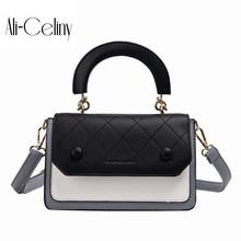 Текстурированная Маленькая женская сумка Новая мода Lingge цветная контрастная маленькая квадратная сумка универсальная простая сумка на одно плечо