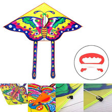 90*50CM Outdoor Sports Butterfly Flying Kite with Winder Board String Children Kids Toy Game Colorful Kite Long Tail