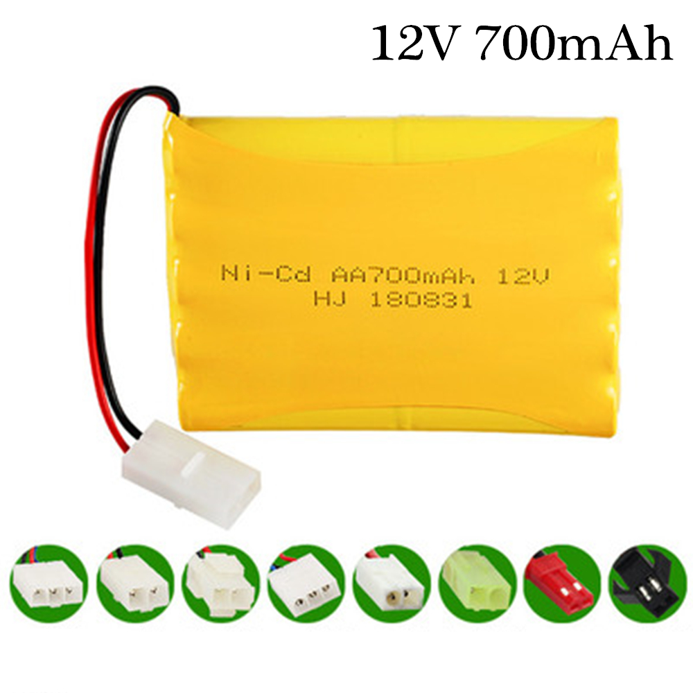 1 pcs <font><b>battery</b></font> <font><b>12v</b></font> 700mah ni-cd <font><b>AA</b></font> <font><b>Batteries</b></font> <font><b>pack</b></font> 800mah ni cd rechargeable for RC boat model car electric toys image
