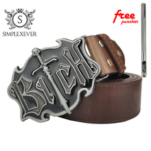 Western Style 3D Metal Belt Buckles Vintage Cowboy Cowgirl and American Country Buckle for