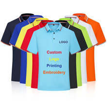 Classic Polo Shirt Custom Print Embroidery Logo Shirt Solid Color Men clothing Company Group Team Shirt Work Uniform S-4XL(China)