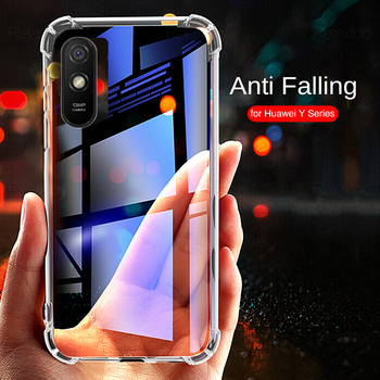 transparent airbag cases for huawei y9s y6s y7 y6 pro y9 prime y5 2019 lite 2018 y5p y6p y8p 2020 soft silicone shockproof coque image
